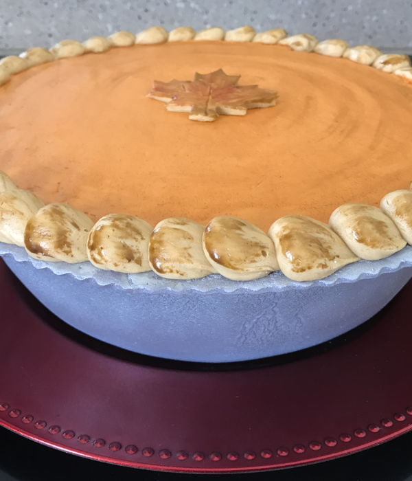 Pumpkin Pie Shaped Cake