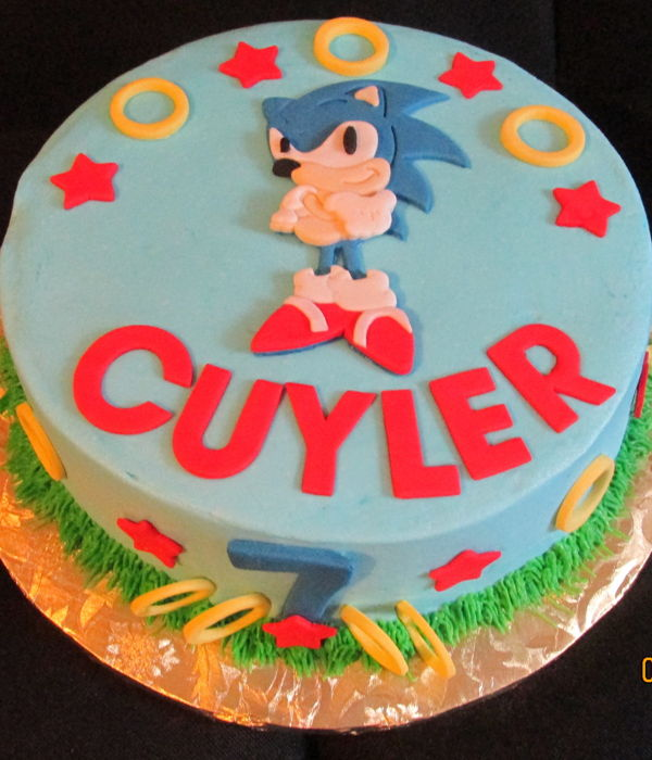 Sonic The Hedgehog Birthday Cake