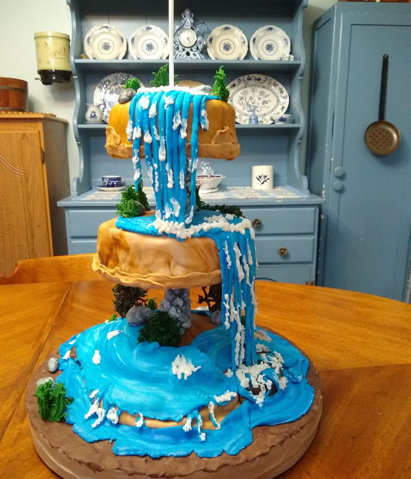 Waterfall Birthday Cake For Anne 2-7-20