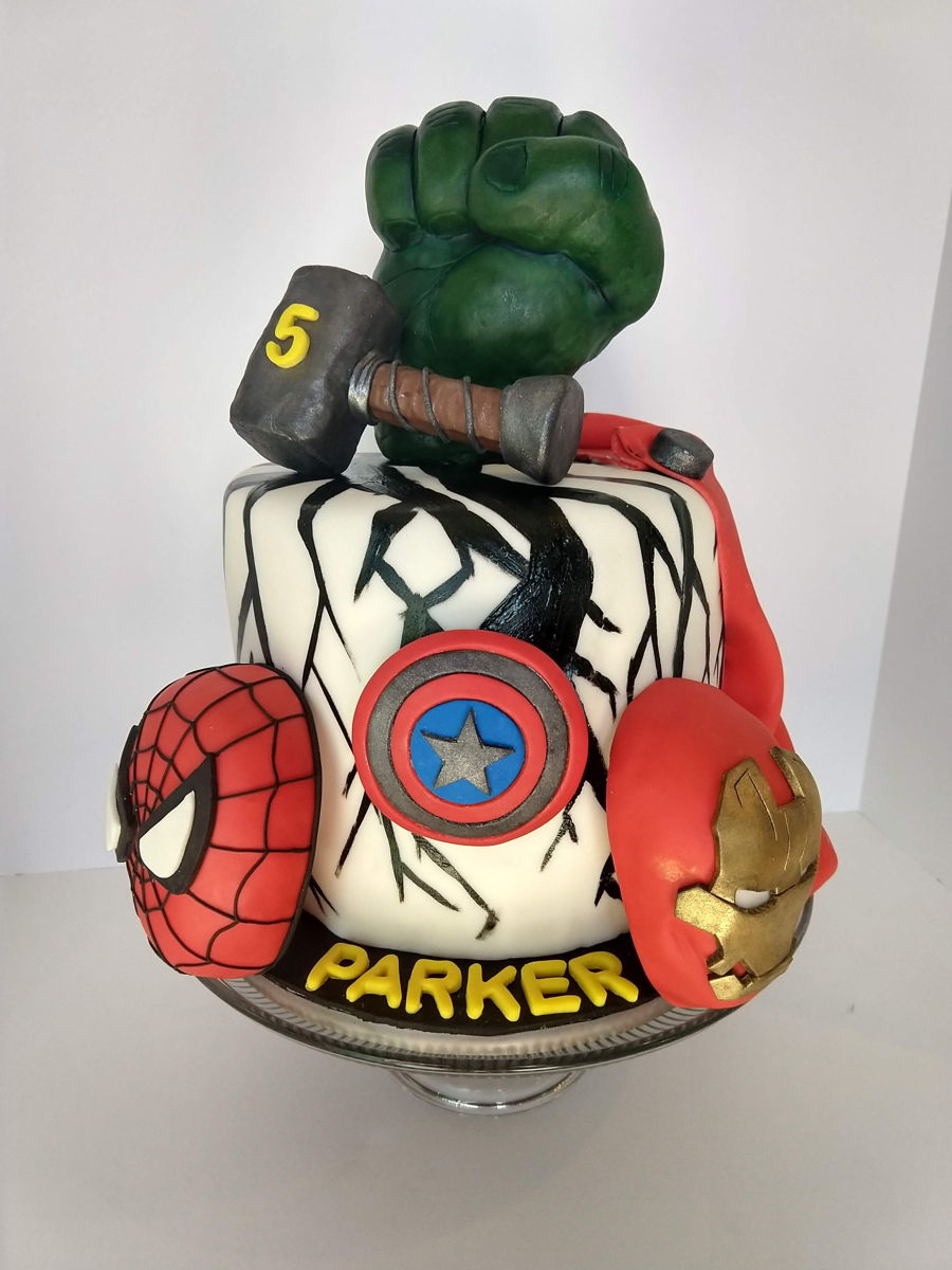 Avengers Cake - CakeCentral.com