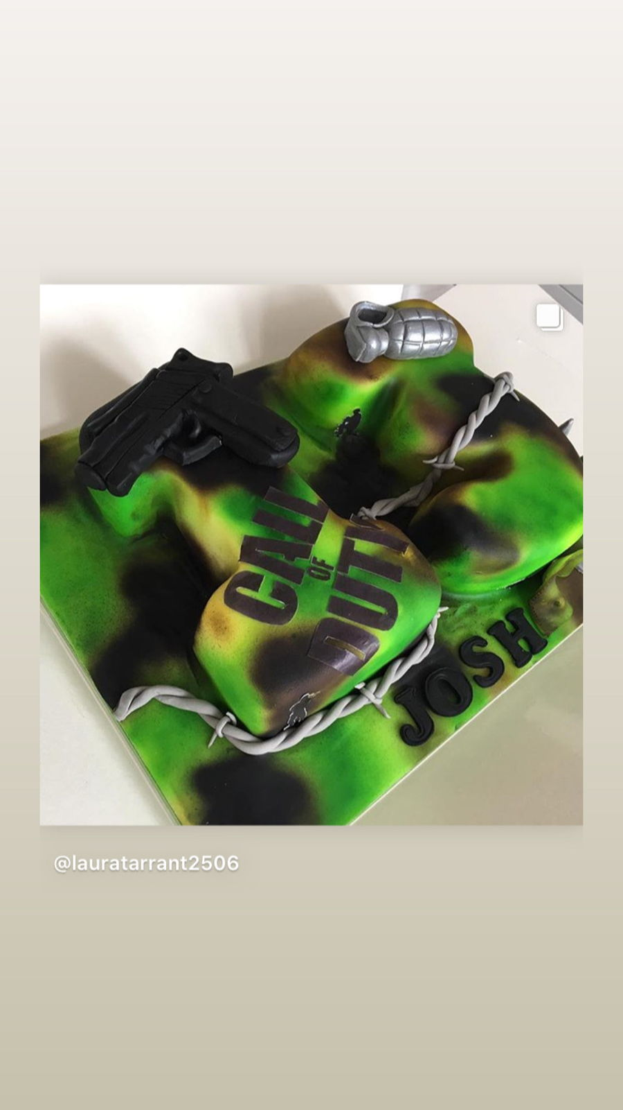 Call Of Duty Camo Cake on Cake Central