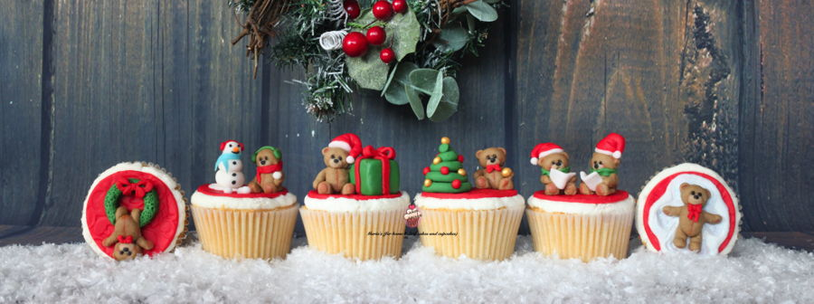 Christmas Teddy Cupcakes on Cake Central