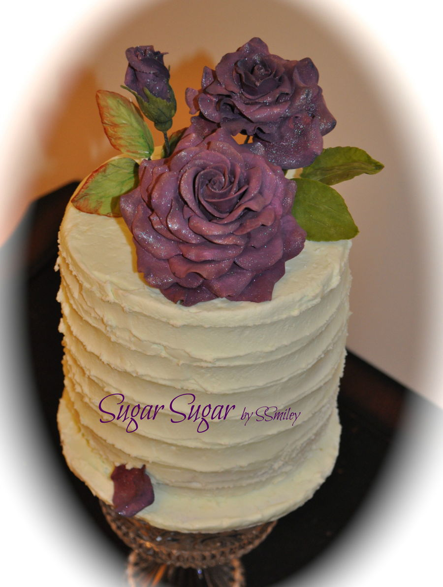 Dark Purple Roses on Cake Central