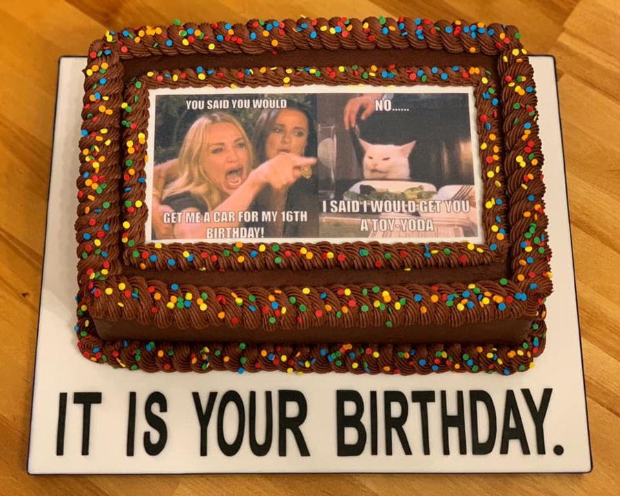 Awe Inspiring Meme Themed Birthday Cake Cakecentral Com Funny Birthday Cards Online Fluifree Goldxyz