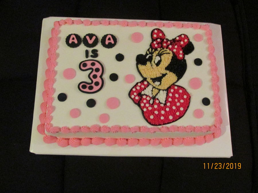 Mini Mouse Birthday Cake on Cake Central