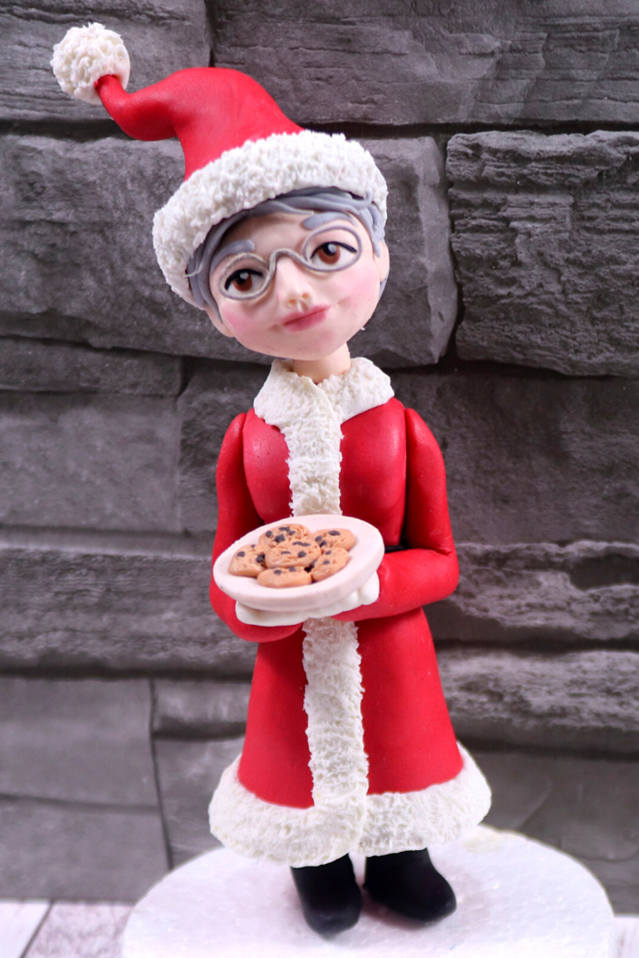 Mrs Claus Cake Topper on Cake Central