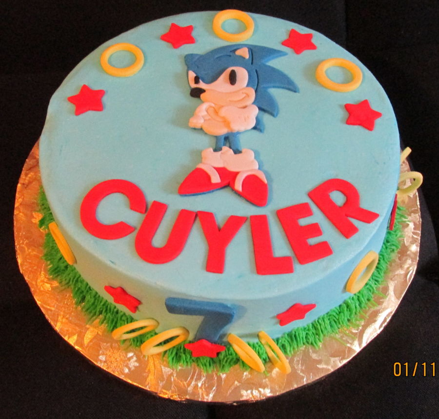 Pleasant Sonic The Hedgehog Birthday Cake Cakecentral Com Funny Birthday Cards Online Barepcheapnameinfo