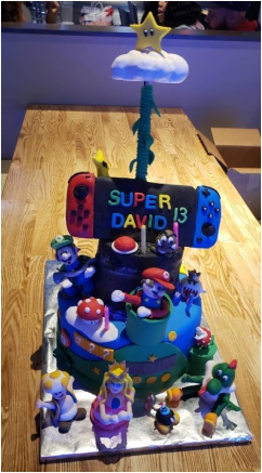 Excellent Switch Mario Luigis Mansion Anti Gravity Birthday Cake Funny Birthday Cards Online Unhofree Goldxyz