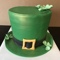 3D St Patrick'S Day Hat The interior cake was ombré layers of green cake layered with cream cheese buttercream and covered in fondant.