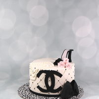 Chanel Bridal Shower Cake Chanel bridal shower cake