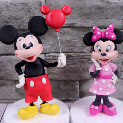 Mickey Mouse And Minnie Mouse Cake Topper Tutorial on Cake Central