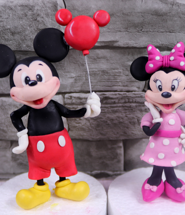 Mickey Mouse And Minnie Mouse Cake Topper Tutorial
