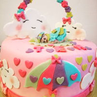 Baby Shower Cake Bisquit and sponge cake with egg mouse