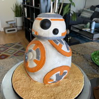 Baby Yoda, Bb-8 & Porg Star Wars Cakes Made this trio of cakes to get back into caking after a long hiatus. Forgot how much fun it could be, and how many materials are required