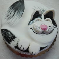 Cat Cake Chocolate inside