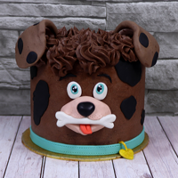 Cute Little Dog Cake Here it is a CUTE little DOG CAKE