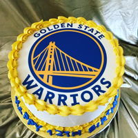 Golden State Warriors Cake Double layered chocolate cake