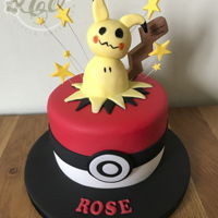 "Mimikyu Pokemon Vanilla 6"" last minute cake. Done before lockdown"