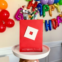 Roblox Cake A minimalist Roblox logo cake requested by my oldest daughter for her 10th birthday! I'm still reeling that I officially have a...