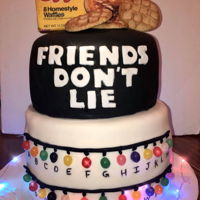 Stranger Things Cake Friends Don'T Lie! Chocolate top vanilla bottom