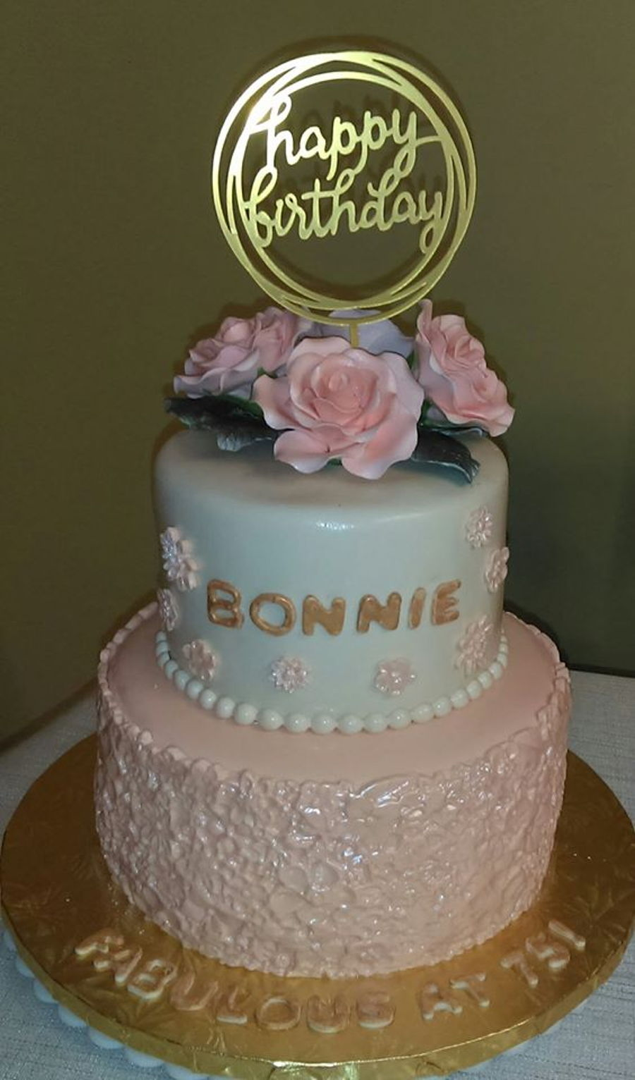Remarkable Bonnies 75Th Birthday Cake Cakecentral Com Funny Birthday Cards Online Bapapcheapnameinfo