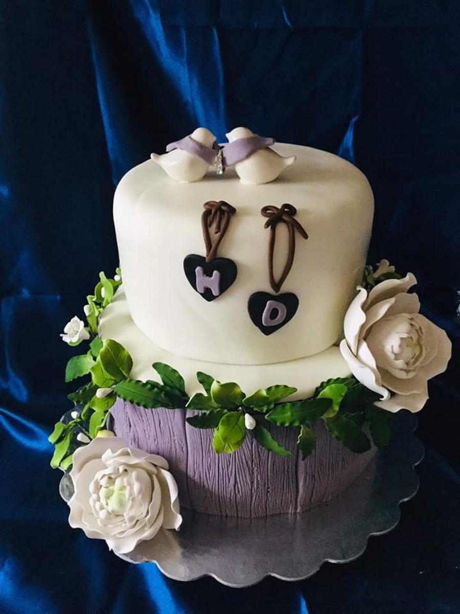 Dove Engagement Cake on Cake Central