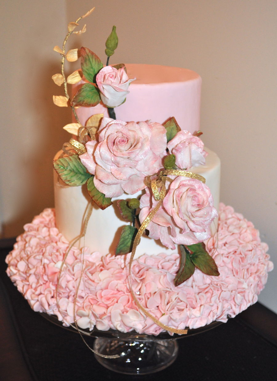 Ruffles & Roses on Cake Central