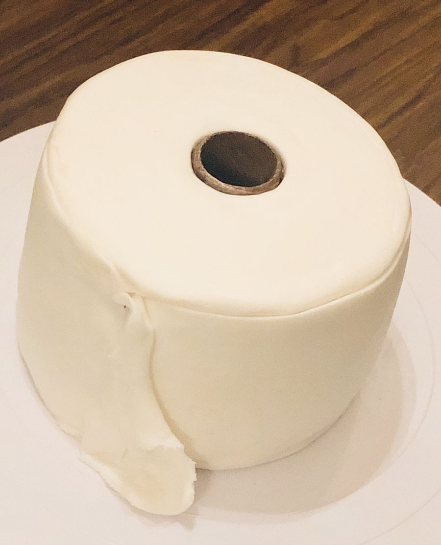 Toilet Paper Cake on Cake Central
