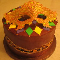 Mardi Gras Cake I decided to make my own birthday cake so I could try out the fault line cake. I put the parchment paper on the top & bottom, put the...