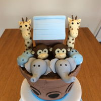 Noah'S Ark Twins Christening Cake For my nephews twins