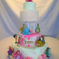 Princess Cake Princess cake I made for my Granddaughter. Since we couldn't have a big party, only one tier was an actual cake. The cake was a...