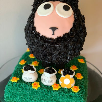 Baa Baa Black Sheep Birthday Cake on Cake Central