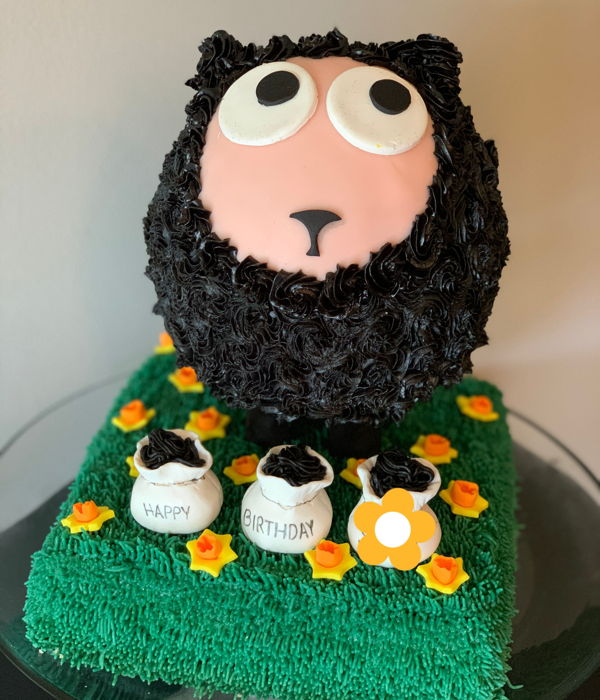 Baa Baa Black Sheep Birthday Cake