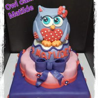Owl Cake Made it for my daughter