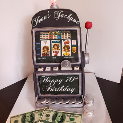 Jackpot Machine on Cake Central