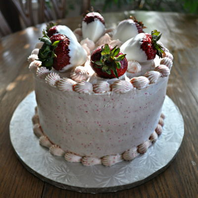 Leslie's Strawberry Birthday Cake