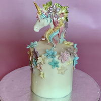 Mini Unicorn Cake My first take on unicorn cake