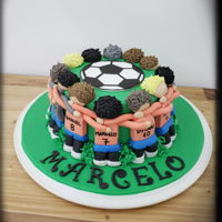 Soccer Players Cake Made this special cake for my son on his 13th Bday