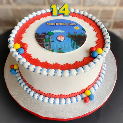 Terraria Themed Cake
