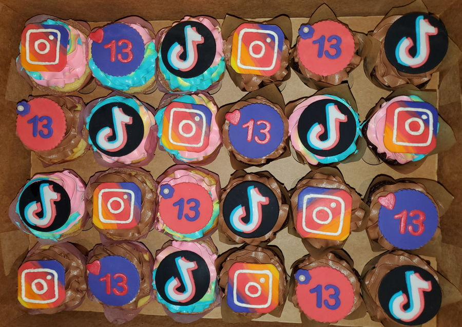 Tiktok And Instagram Cupcakes on Cake Central