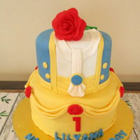 Beauty & The Beast Theme Party Beauty & the Beast cake for the little beauty.