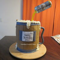 "Beer Mug Cake Client (Co-worker) wanted a ""Beer Can Cake"" for her dad. She knew I was a cake decorator, but never seen what kind of cakes I..."