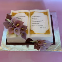 Bible Cake A cake for my friend's friend