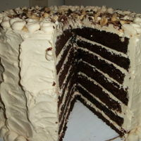 Chocolate Pb&j Cake One of my bestsellers, the chocolate pb&J cake. Chocolate cake with peanut butter Swiss meringue buttercream, with alternating layers...