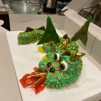 Dragon Cake Really happy with this one. Took a long time but worth it