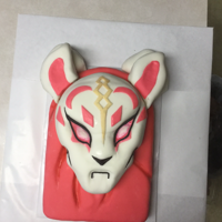 Drift-Fortnite Grandson's birthday cake. Chocolate cake carved and covered in salted caramel buttercream & MMF.