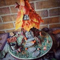 Fairy House Cake | Autumn /fall Cake Autumn Themed Fairy House Cake