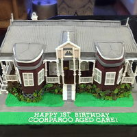 House Cake Constructive advice please bearing in mind I am self taught hobby decorator.... I took on this project to build a replica house for the...