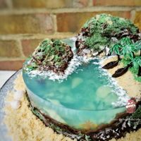 No Gelatine Island Cake An Island Cake made from Agar Agar instead of Gelatine