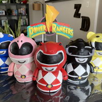 Power Rangers Cake Power Rangers Dorbz styled mini cakes